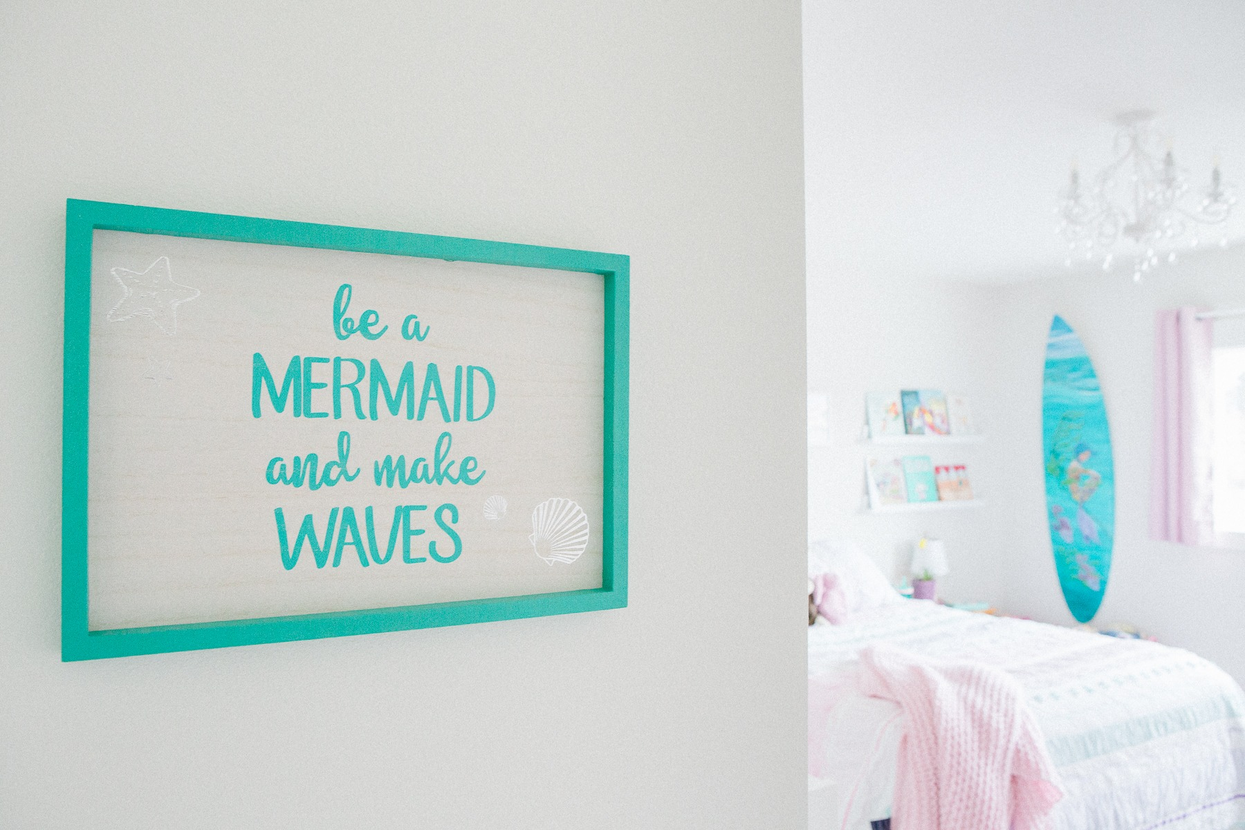 Mermaid Themed Little Girl's Bedroom