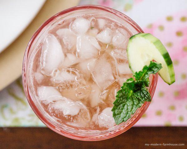 cucumber mint vodka cooler
