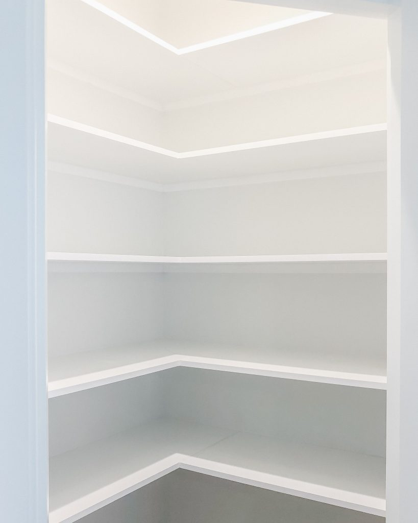 a clean kitchen pantry