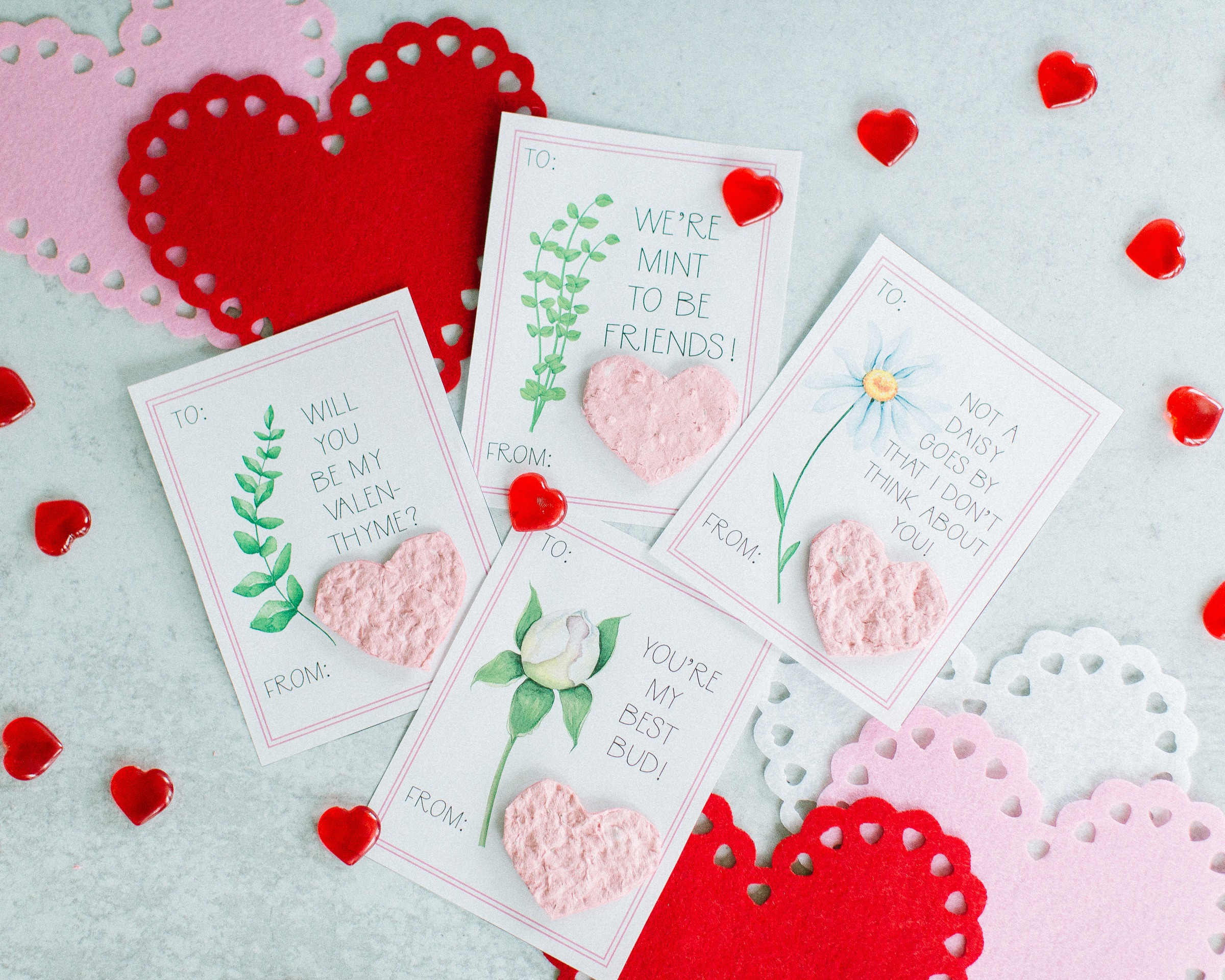 Free Printable Flower Valentine Cards