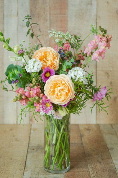 flower bouquet created from cut flower garden